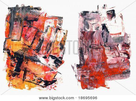 Satz von abstrakten hochauflösende verzweifelt Aquarelle handgemalt, die von mir. Objekte werden auf w isoliert.