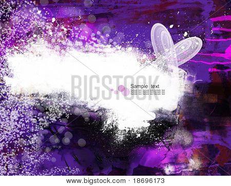 Digitally handpainted  abstract textured background with space for your text