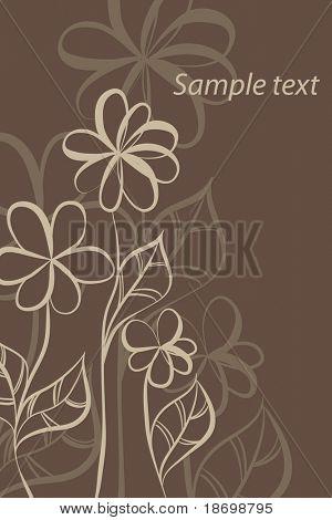 fundo belo vetor Floral (flores marrons luz)