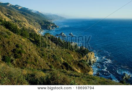 Foggy California Coast, Big Sur