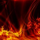 Hot abstract plasma on dark background
