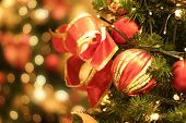 foto of christmas-present  - Christmas tree and lights - JPG