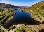 Aerial View Killarney National Park On The Ring Of Kerry, County Kerry, Ireland. Beautiful Scenic Ae poster