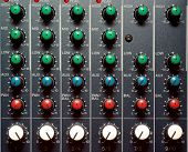 Texture of sound mixer. Techno design.