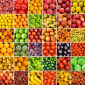 image of vegetable food fruit  - collection of fruit and vagetable backgrounds - JPG
