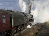 stock photo of 24th  - Preserved British Railways Class 8P steam locomotive 4 - JPG