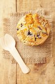 image of bakeshop  - blueberry muffin in rustic style - JPG