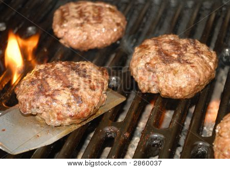 Tailgate Grilling Hamburger Time.