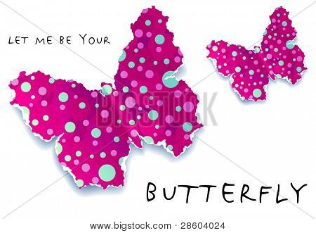 butterfly vector background with space for Your text,vector illustration