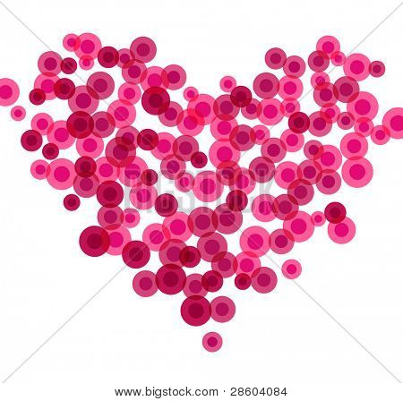 Heart made of blood cells, vector illustration