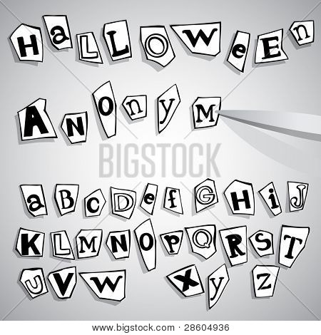 halloween anonymous alphabet