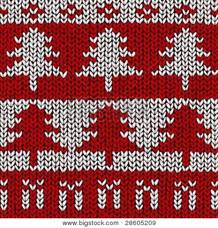 Árvore de Natal padrão de jumper, ilustração vetorial