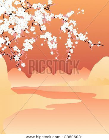 Vector japan background
