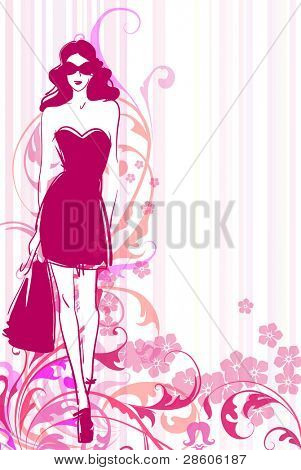 Female vector background