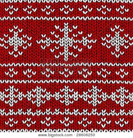 Fundo de vector de Natal, jumper com flocos de neve