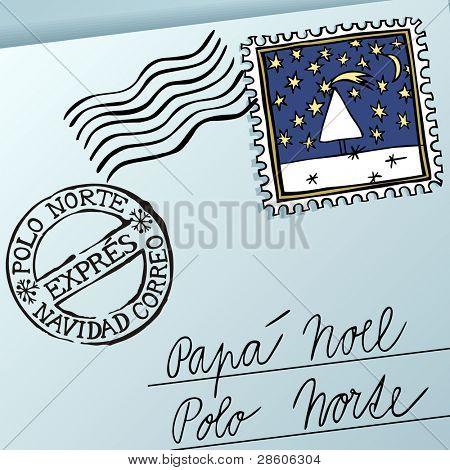 Escrito para Papa Noel, letter for Papa Noel