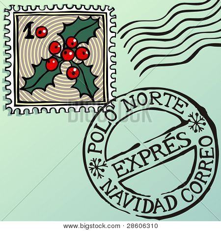Navidad estampillas, Spanish Christmas stamps