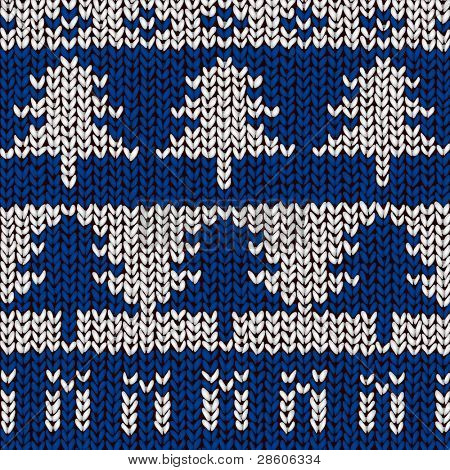 jumper pattern with xmas trees and gifts