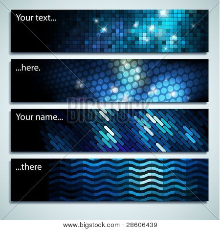 Set of beautiful mosaic labels with space for Your text