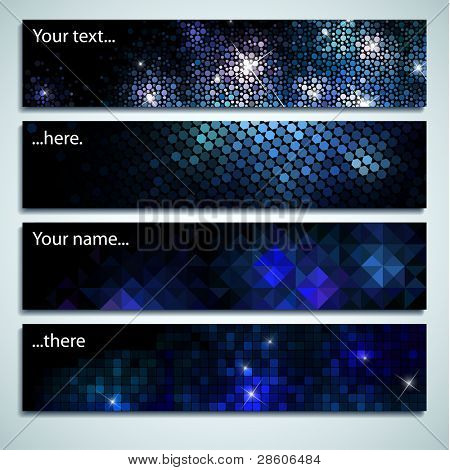 Set of four labels with space for Your text