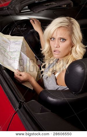 Car Woman Map Looking