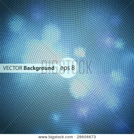 blue vector banner with space for Your text