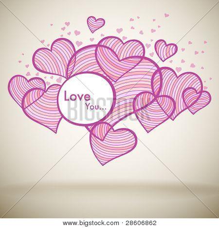 Liebe Grußkarte für Muttertag oder Valentinstag