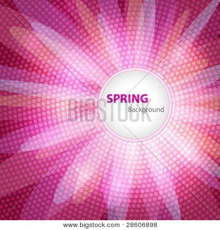 Fundo de primavera com espaço para seu texto