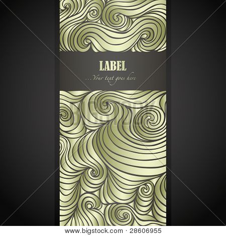 Golden doodle label with space for Your text