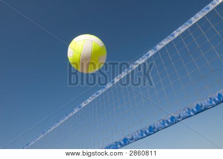 Volleyball Over Net