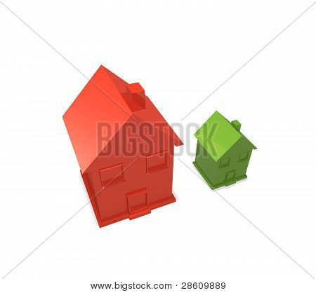 comparing size of houses