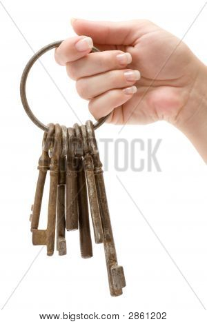 Holding A Bunch Of Rusty Keys