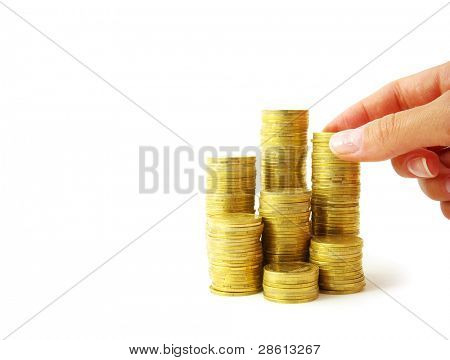 Hand put coin