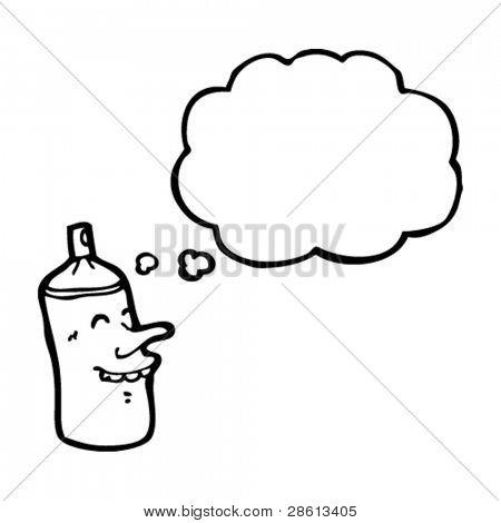 spray can cartoon character