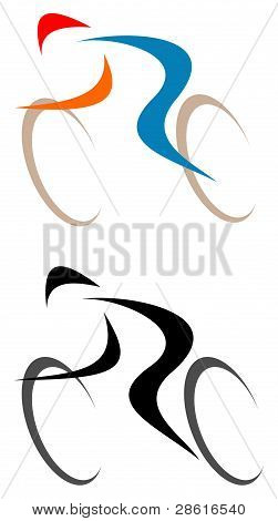 Cyclist - Isolated Vector Icon