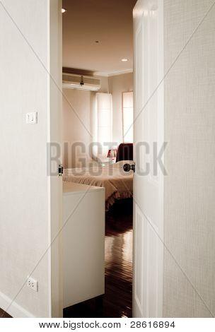 Door opening on a peaceful restroom