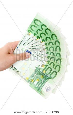 Hält ein Geld-Fan