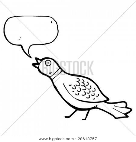 squawking pheasant cartoon