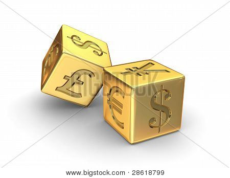 Gold Currency Dice