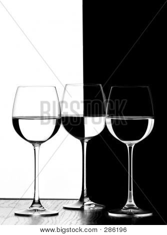 Three Wine Glasses