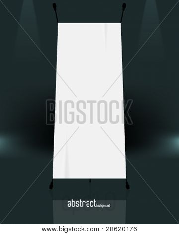 eps10 vector isolated blank standee background