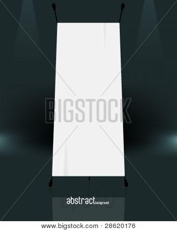 eps10 vetor isolada em branco standee fundo