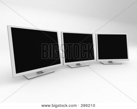 Three Monitors