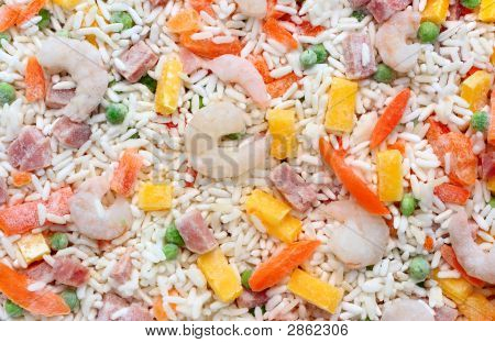 Frozen Chinese Fried Rice Background