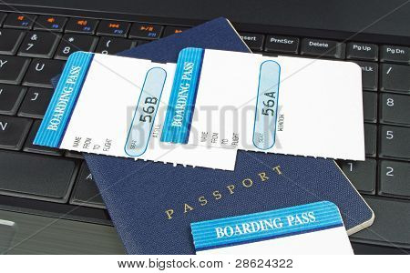 boarding passes and passport