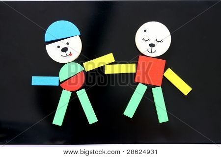 Colorful magnetic toy shaping figures