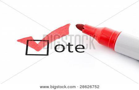 Red Checkmark On Vote Checkbox