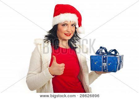 Successful Santa Helper Woman