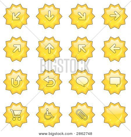 Web Icon Set   (16 Star Buttons)