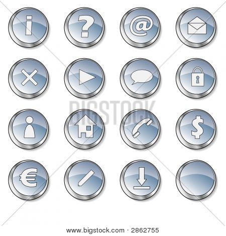 Nice Blue Glossy Icon Collection